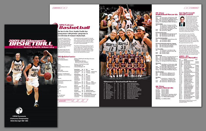 SPU Women's Basketball Media Guide 2004