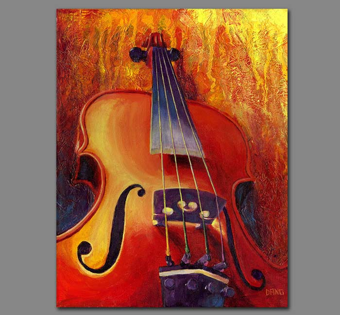 """Fit as a Violin #3"" - Acrylic painting on canvas (11""w x 14""h)"