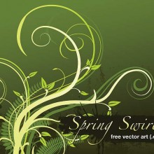 Free vector art download - Spring Swirls EPS by Daniel R. Carver (aka Dano)