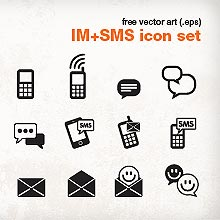 Free vector art - Instant Messenger + SMS icon pack by DanoCreative.com