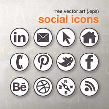 Free vector art social media icons by Dano