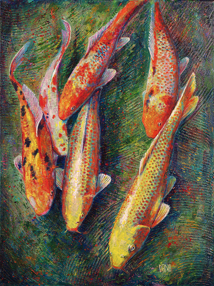 Koi fish painting 4 18x24 danocreative the personal for Coy fish painting