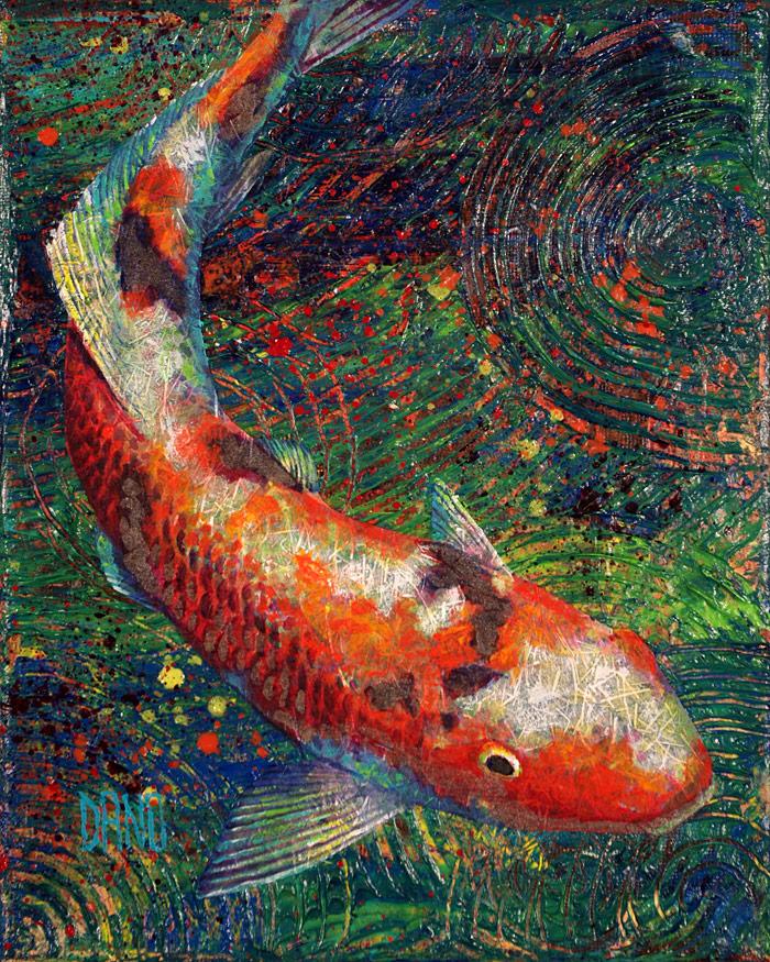 Painting of a koi fish