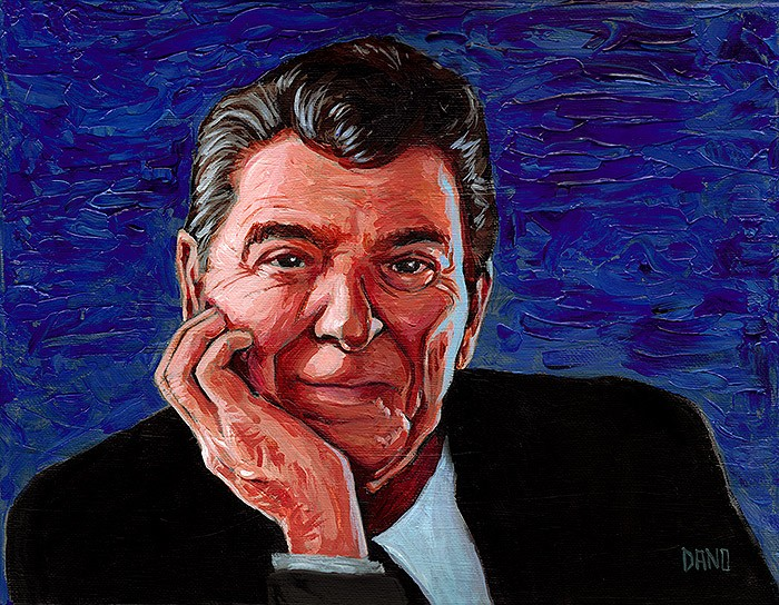 """President Ronald Reagan"" Acrylic on canvas by Daniel ""Dano"" Carver"