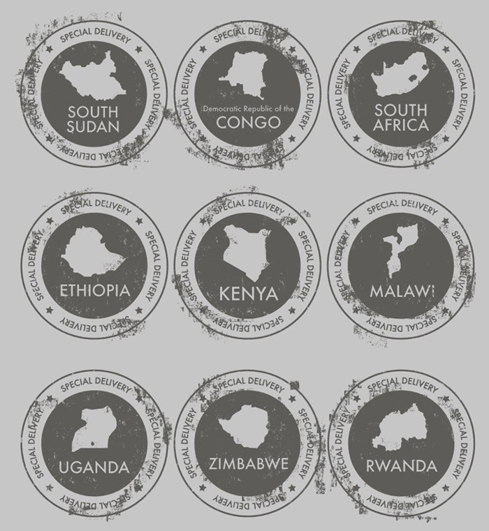 Free vector art download special delivery african countries art