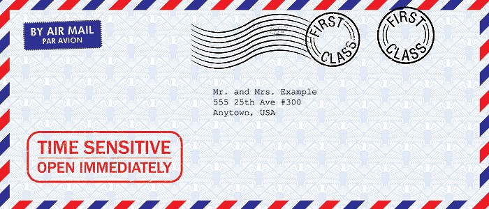 free vector art image of a eagle patterned air mail envelope