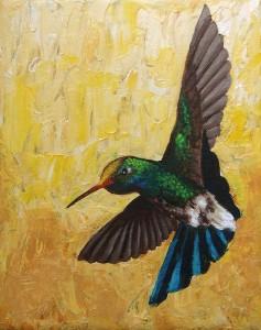 """Humming Bird #1"" - acrylic painting on canvas."