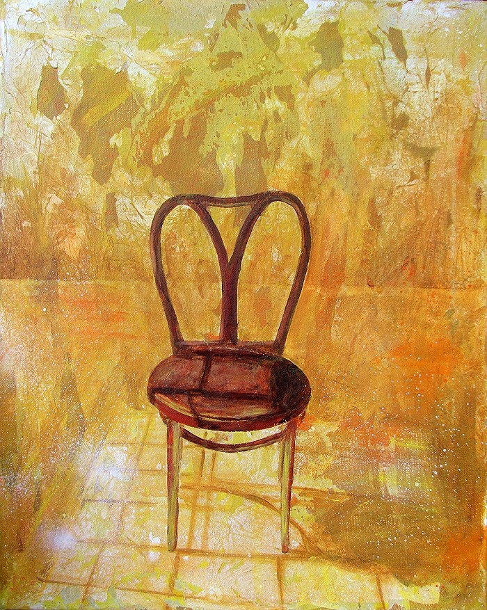 "'Find a Seat #1' - Acrylic painting on canvas (16""w x 20""h). Artist: Daniel (Dano) Carver"